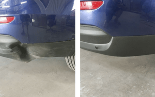Dented bumper bar repair
