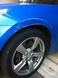 Scratch on a Nissan 350z