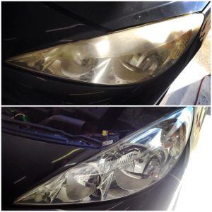 Yellow Headlight Repair Before and After
