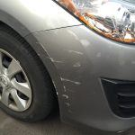 Bumper Repairs Adelaide - RHF cnr bar scrape BEFORE