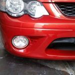 Large crack repair front bumper AFTER