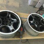 Porsche full respray high gloss black