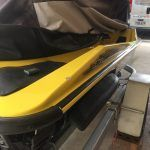 Jetski paint chip repair BEFORE