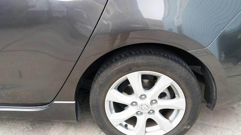 Mazda 3 wheel arch scrape AFTER