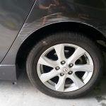 Mazda 3 wheel arch scrape BEFORE