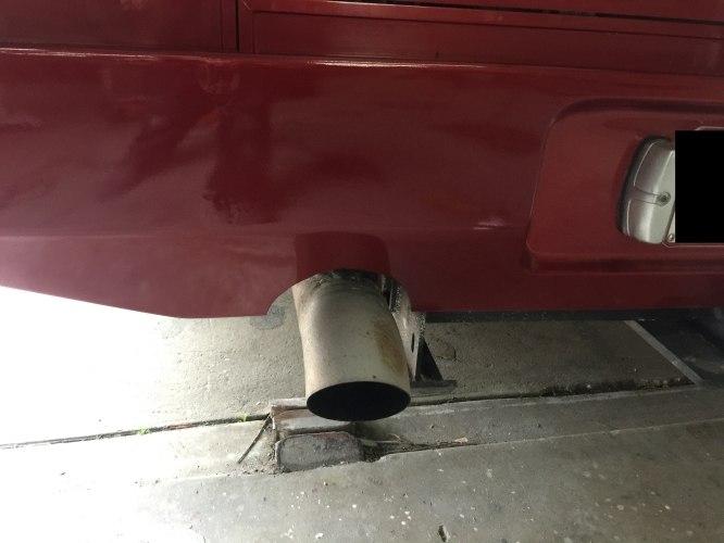 Motorhome fibreglass rear bar crack after
