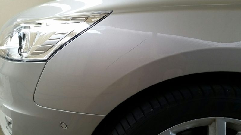 Peugeot front guard scratch BEFORE