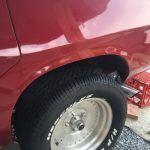 Rear guard fibreglass crack repair after