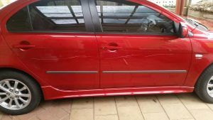 Keyed car before repair