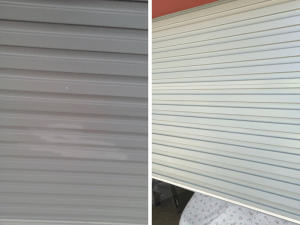 Garage door paint and dent repair