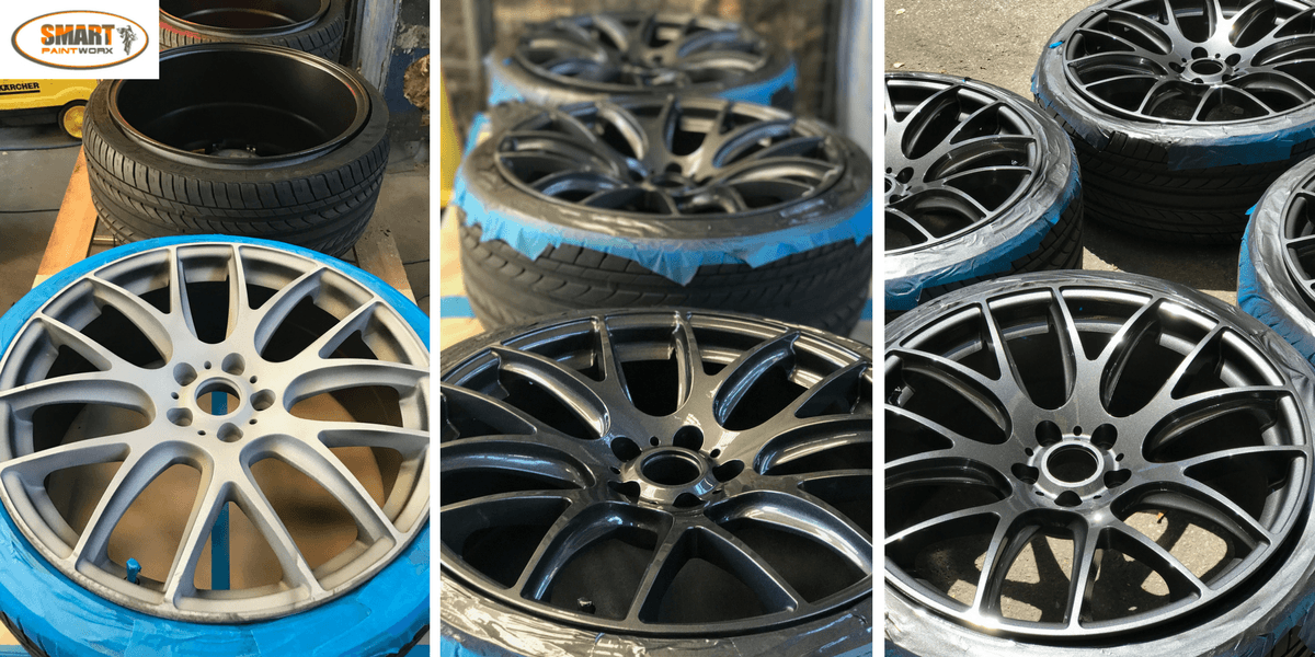 Alloy Wheel Colour Change to Charcoal Grey