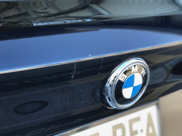 BMW Boot Lid Scatch - Before