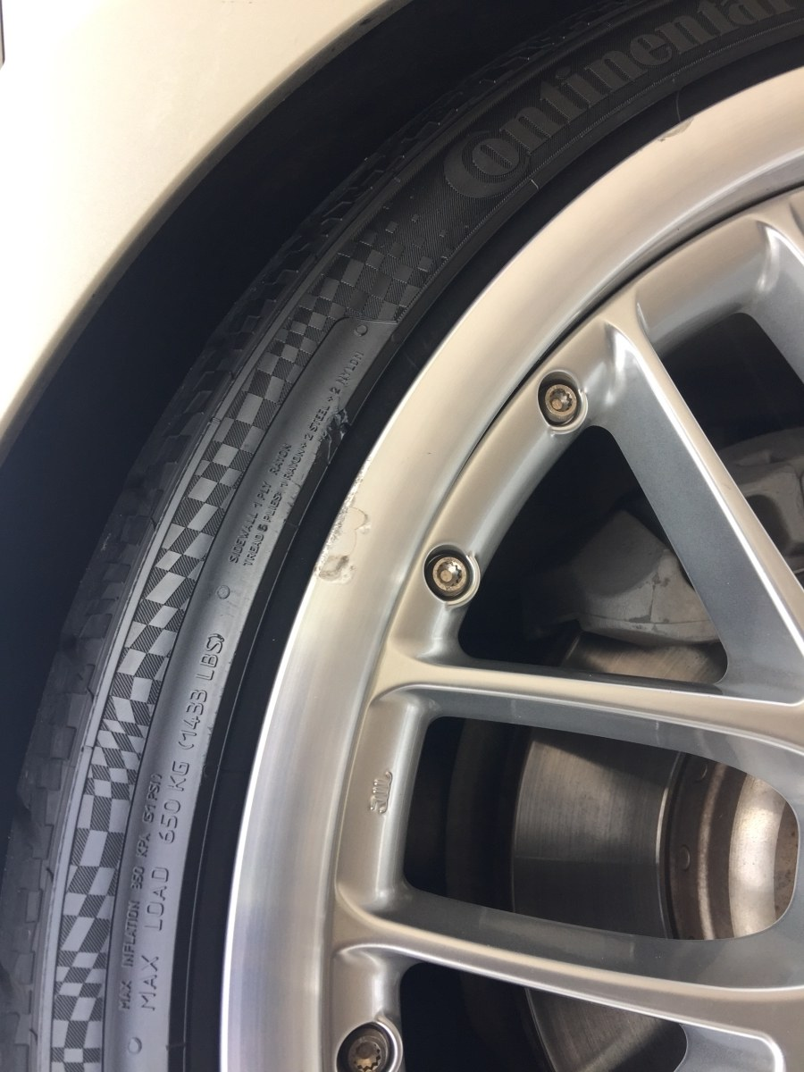 Polished rim repair - Before